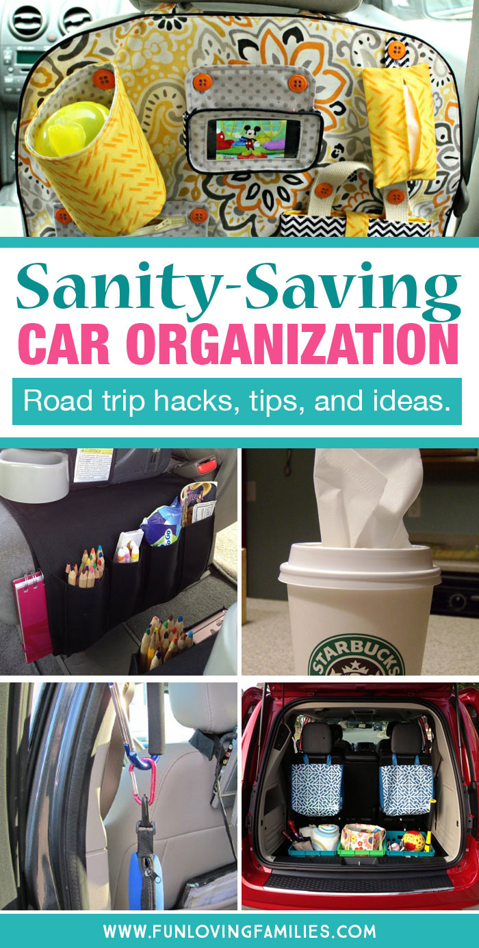 car organization hacks, tips, and ideas for parents