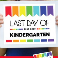 Free Printable Last Day of School Signs for All Grades 2020