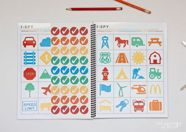 Printable sticker road trip game kit for kids (from The Homes I Have Built). Plus a ton of other super-fun road trip games for kids.
