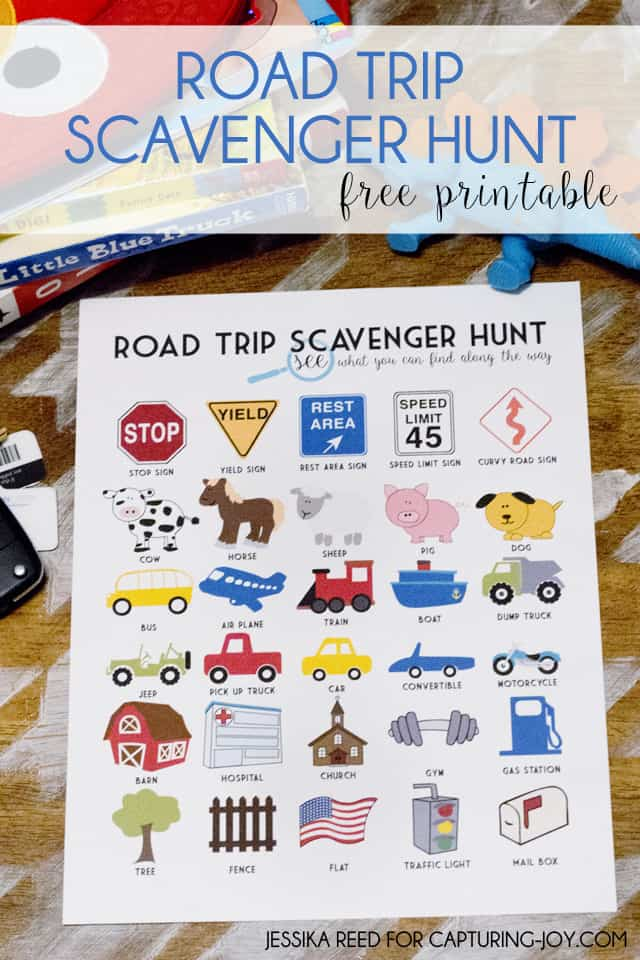 See how to get this free printable road trip scavenger hunt game for little kids.