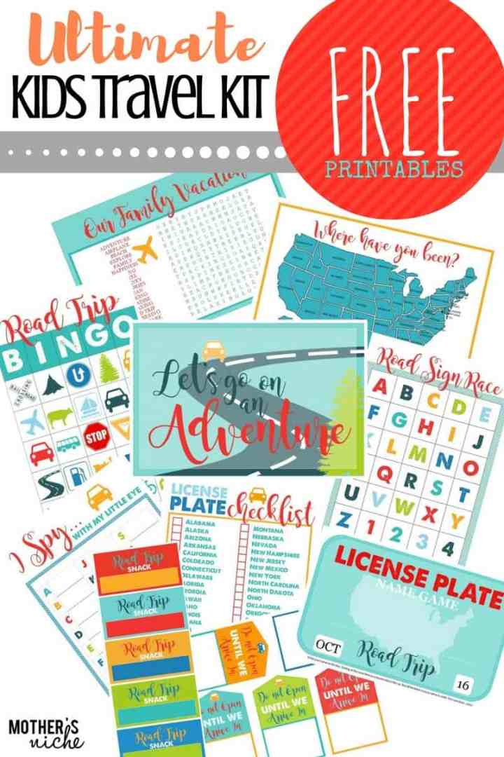 Amazing printable car games kit from Mother's Niche. Plus a ton of other super-fun road trip games to keep the kids busy on your next long car ride.