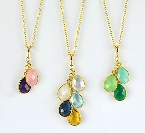 Birthstone pendant necklace gift idea for mom.