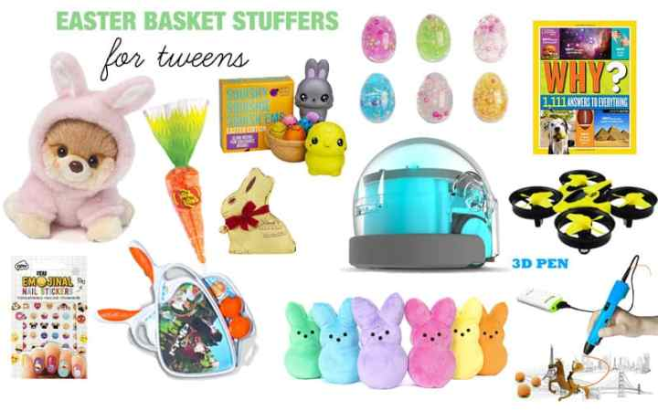 easter basket stuffer ideas for tweens
