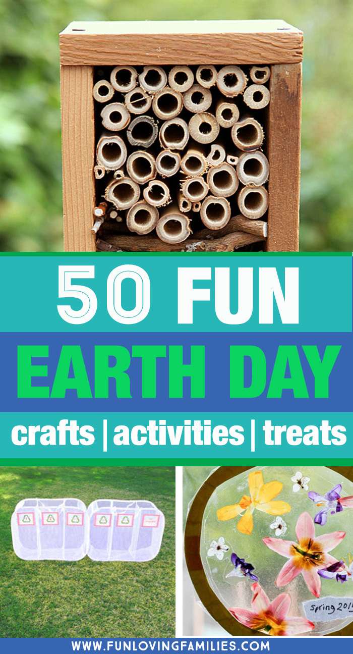 Earth day crafts activities and treats for kids