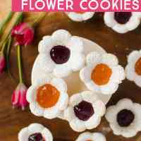 Jam-Filled Flower Sugar Cookies