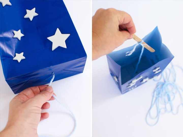 How to make a patriotic paper bag kite