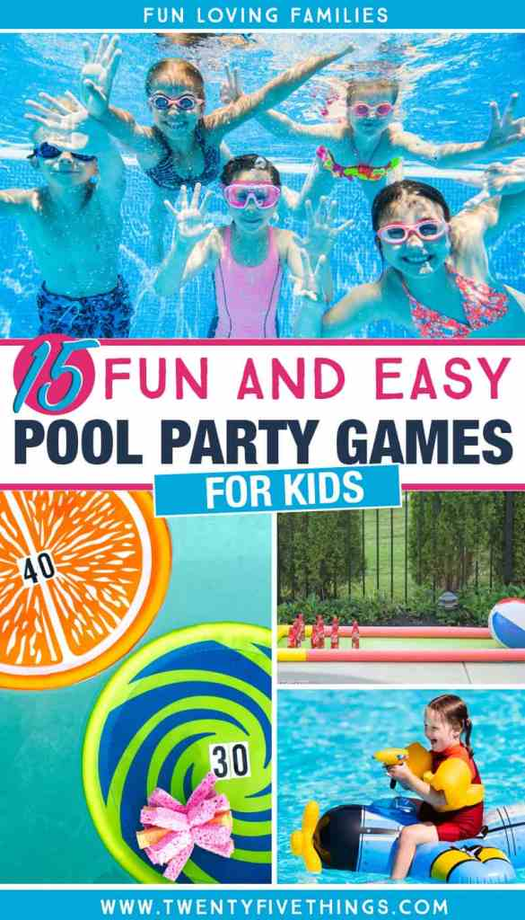 fun and easy pool party games foro kids