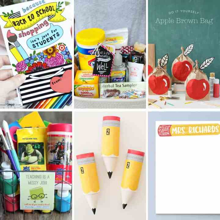 Practical back to school teacher gift ideas that crafty moms will love to give and teachers will love to receive.