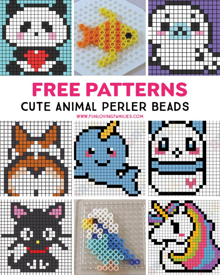 cute animal perler bead patterns