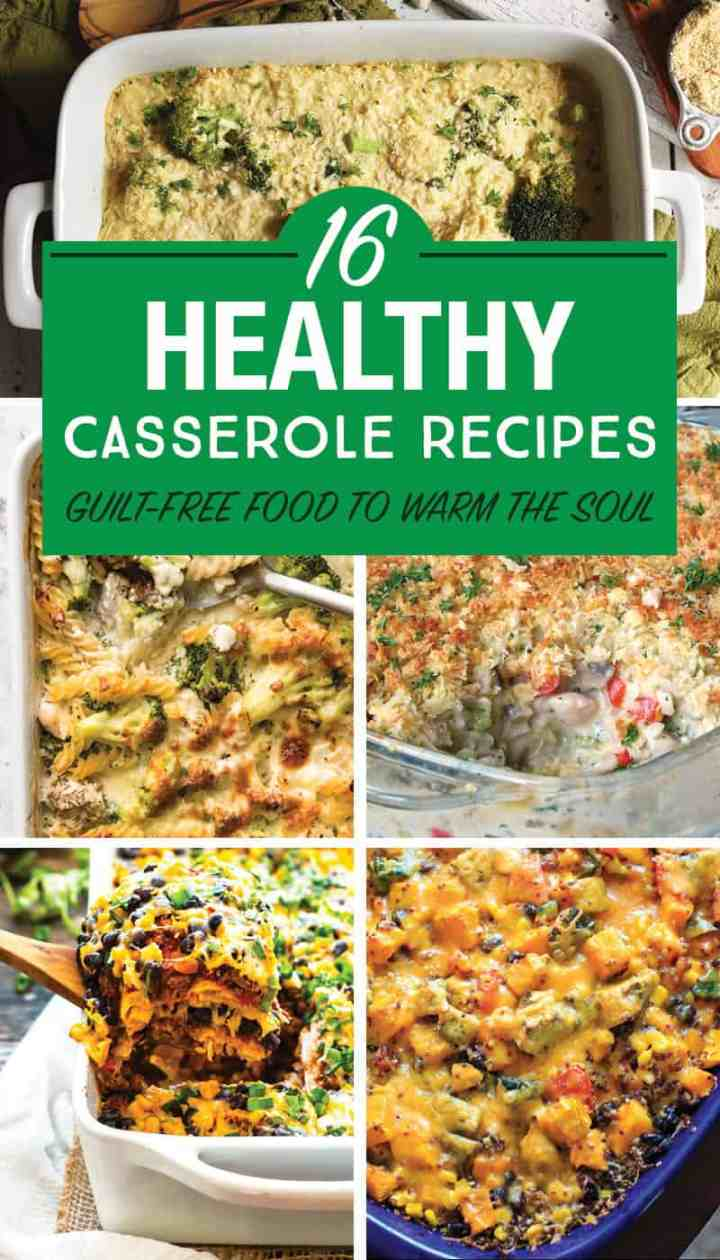 I found these healthy casserole recipes that look delicious! I've been needing more healthy dinner ideas for the family. Plenty of recipes that are meatless and with meat. #healthyrecipes #dinner #casserole #healthydinner #healthycasserole #healthydinner #healthyfamilydinner #casserolerecipes #healthymeals #healthymealsforkids #healthyfamilymeals #healthycomfortfood #comfortfood #healthydinnerrecipes