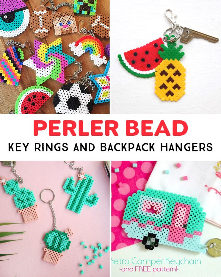 key ring Perler Bead projects