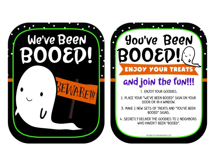 Printable You've Been Booed and We've Been Booed signs