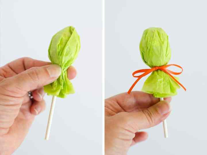 how to make lollipop witch favors