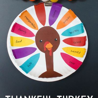 Thankful Turkey Kids Craft with Printable