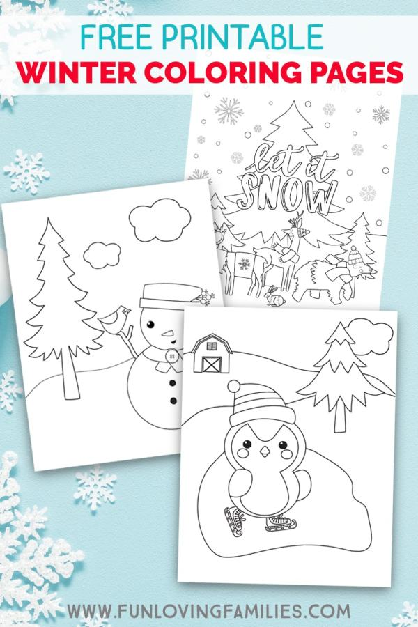 free printable winter coloring pages # 12