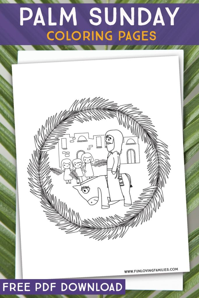 palm sunday Jesus and Donkey coloring sheet