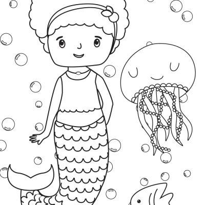 Mermaid Coloring Pages (Free Printables)