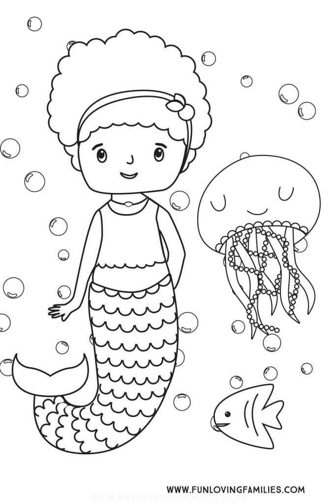 Mermaids coloring pages » Free & Printable » Mermaid coloring sheets | 1024x683