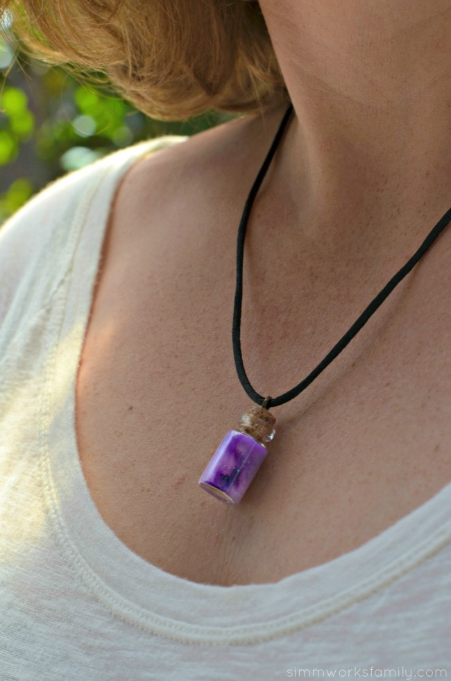 mini nebula jar necklace