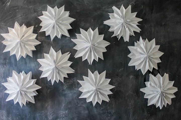 giant paper bag stars