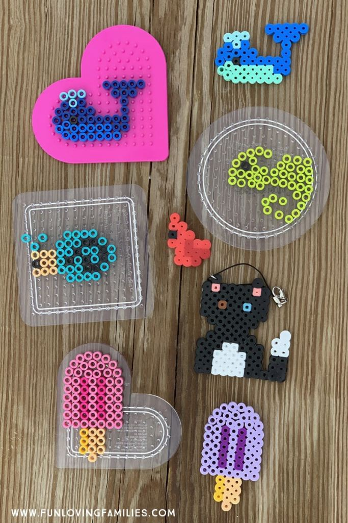 melty bead designs, whale, bird, snail, cat, popsicle