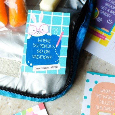 Back to school Jokes (Plus Free Printable Lunch Box Notes)