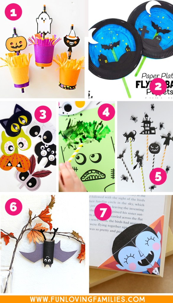 Halloween printable crafts for kids