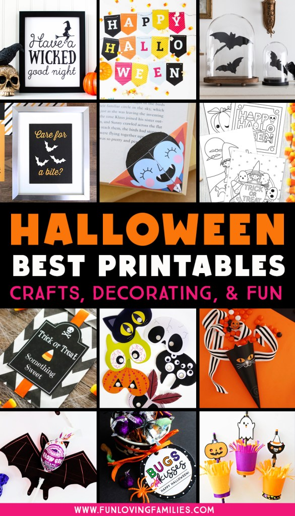 Halloween printables for Halloween crafts, decorating, and fun