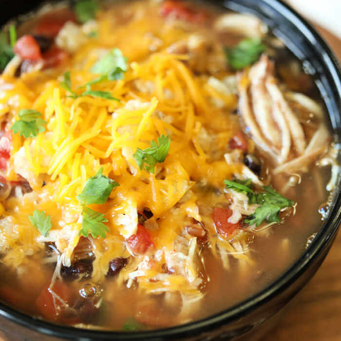 chicken tortilla soup in instant pot