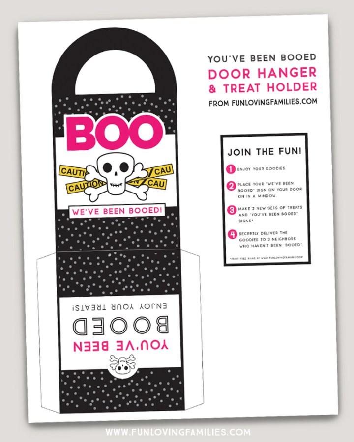 You've Been Booed printable door hanger
