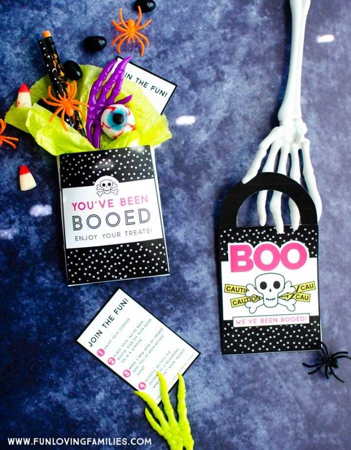 You've been booed Halloween door hanger and treat holder printable