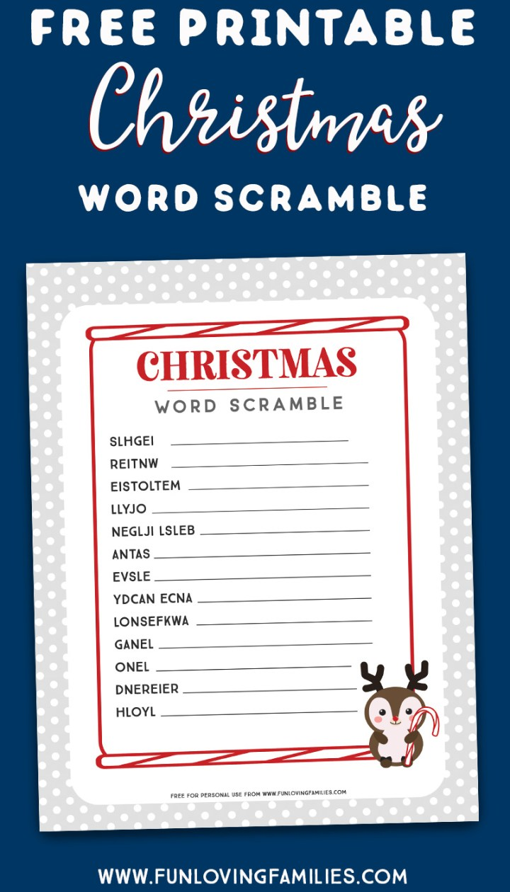 Christmas word scramble download
