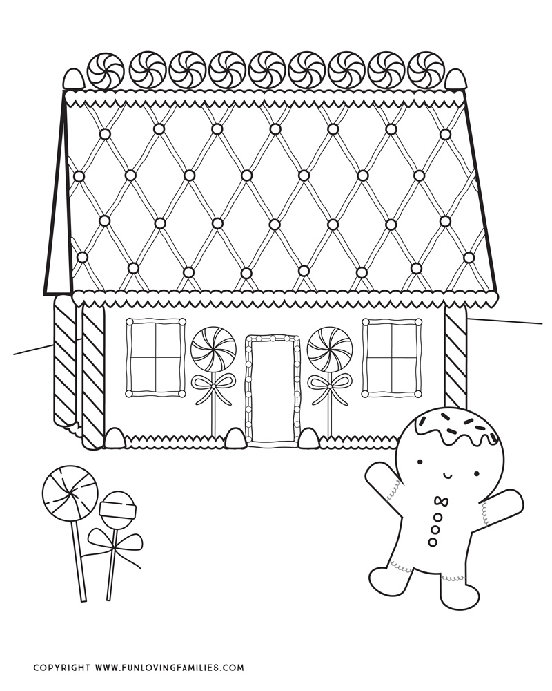 - Gingerbread House Coloring Pages - Fun Loving Families