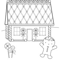 3 Gingerbread House Coloring Pages