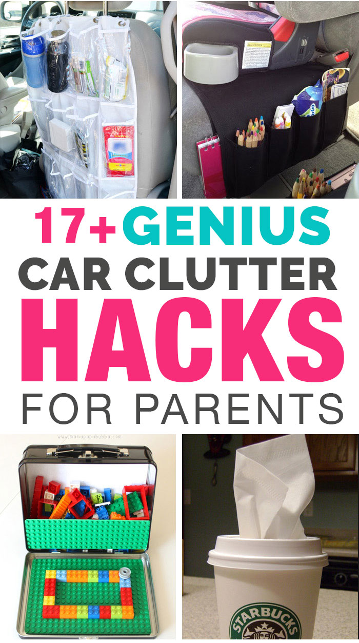 17 genius car clutter hacks for parents