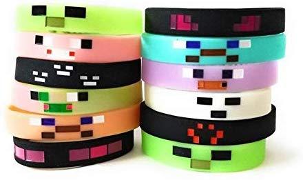 12 minecraft bracelets that glow in the dark