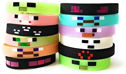 12 minecraft bracelets that glow in the dark