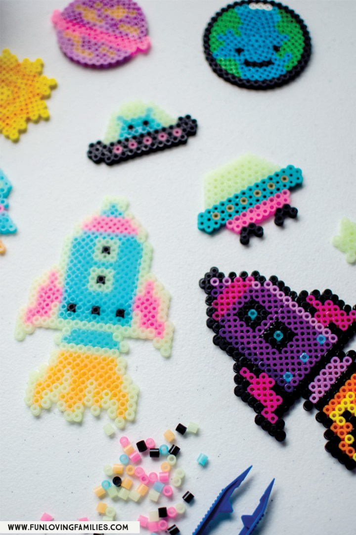 spaceships and rockets perler beads