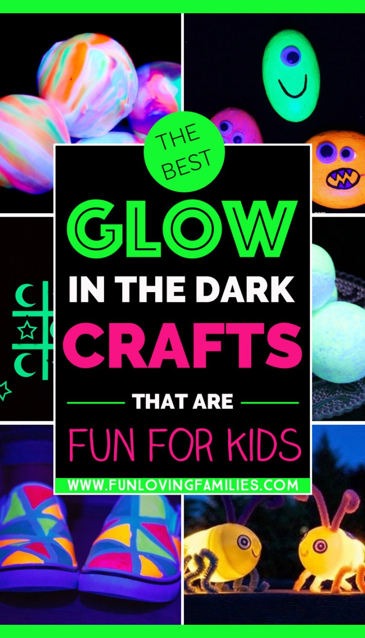 glow in the dark crafts for kids to make