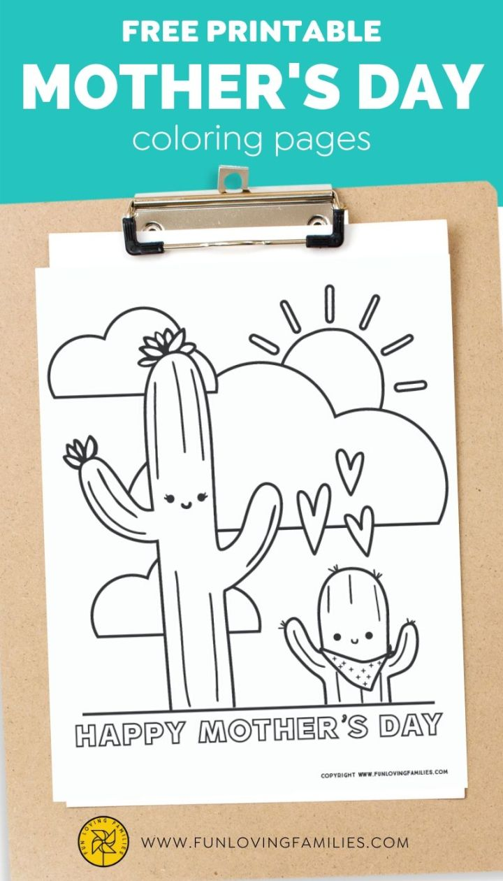Cute Mother's Day coloring pages free printables