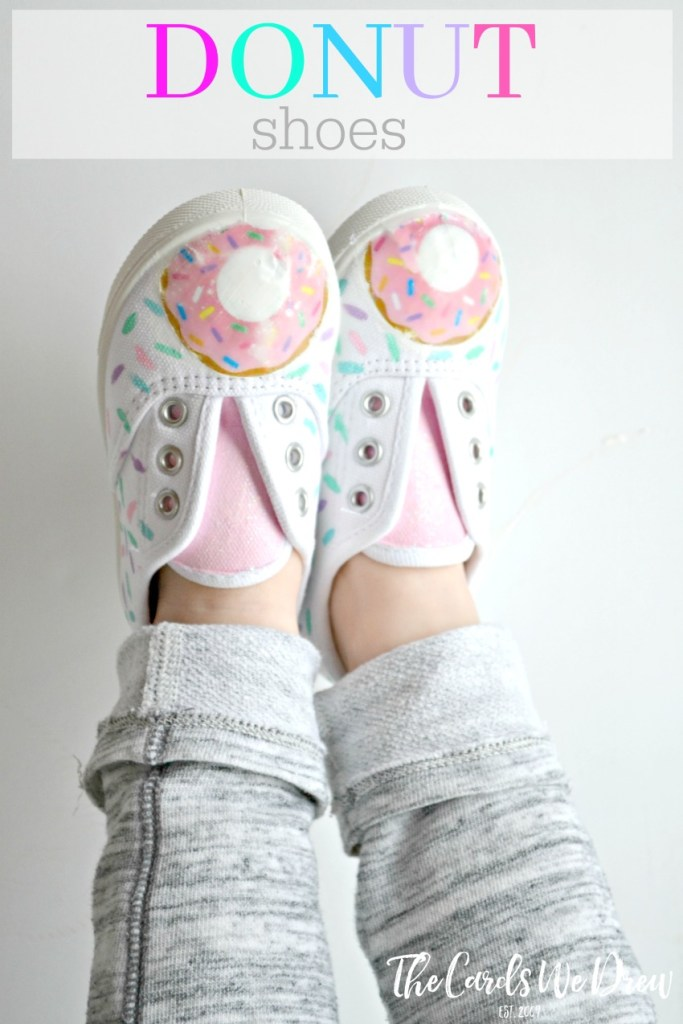 donut with sprinkles embellished shoes