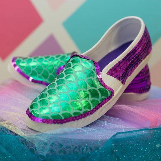 mermaid shoes tutorial