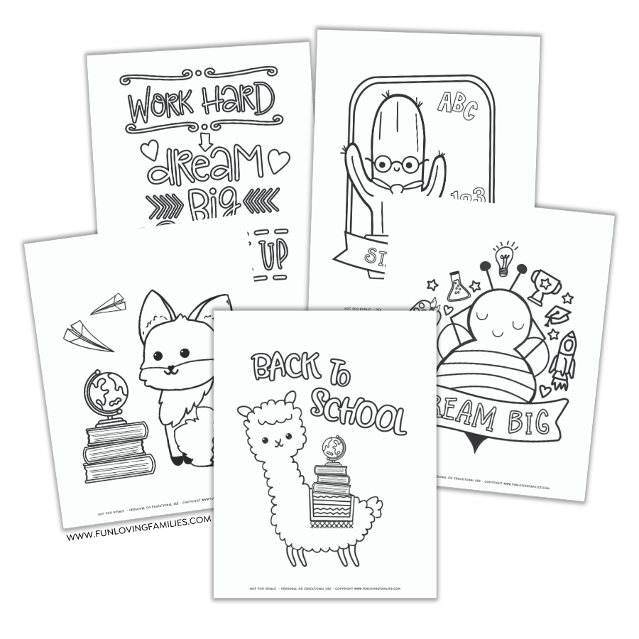 Printable Back To School Coloring Pages - Fun Loving Families