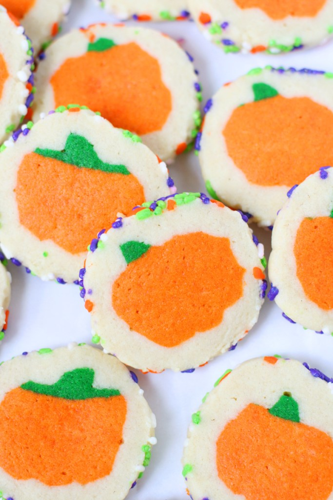 sugar cookies with pumpkin shapes inside