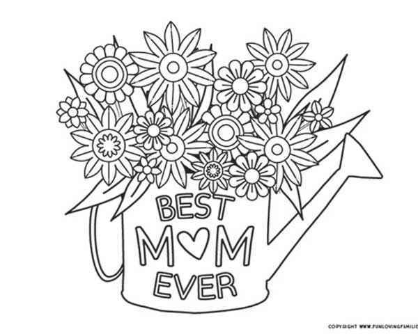 Mother S Day Coloring Pages Free Printables Fun Loving Families
