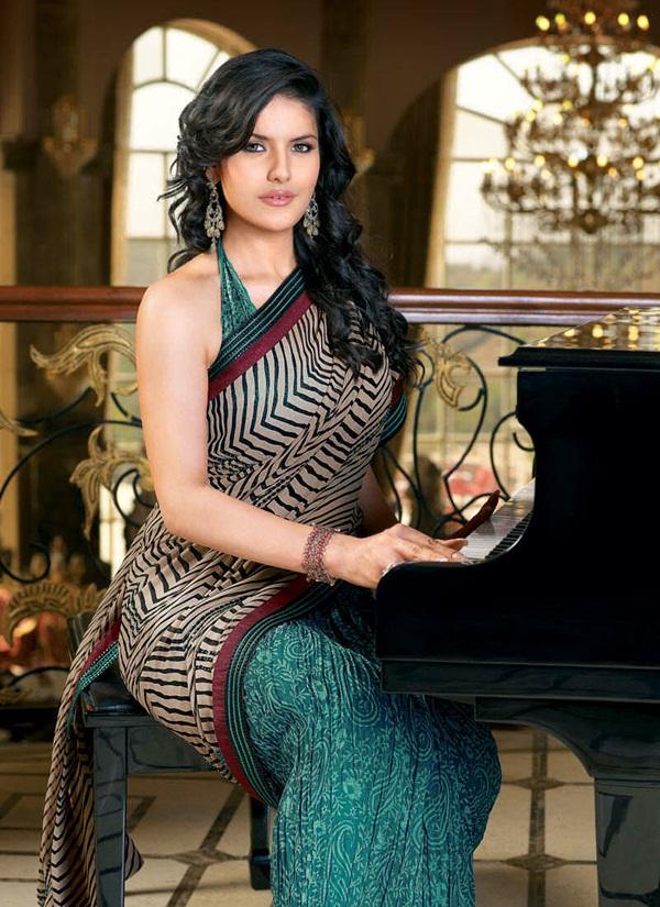 zarine-khan-glorious-saree-collection- (6)