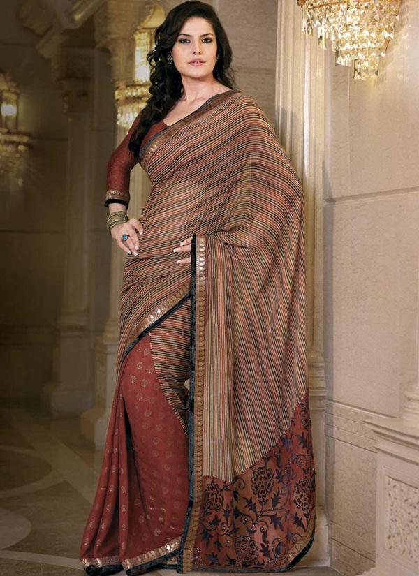 zarine-khan-glorious-saree-collection- (12)