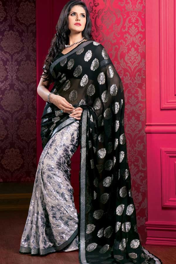 zarine-khan-glorious-saree-collection- (14)