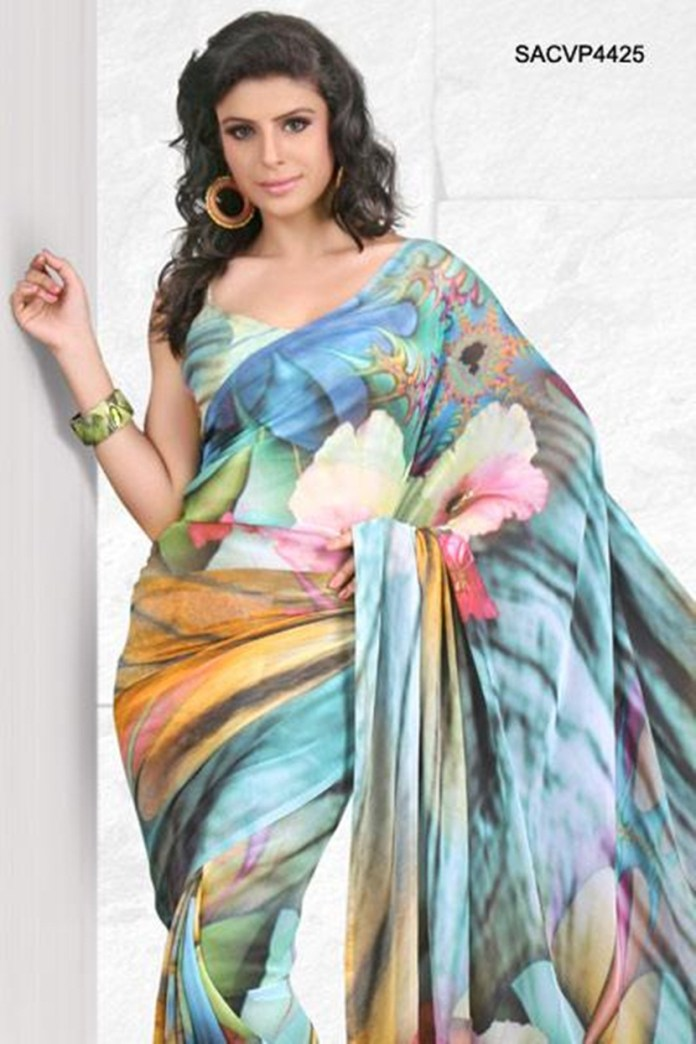 printed-saree-designs-for-summer- (8)