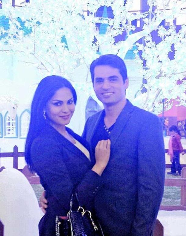 veena-malik-with-husband- (1)
